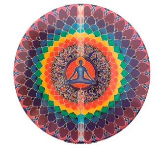 Lotus-Meditation-auto-raam-Sticker