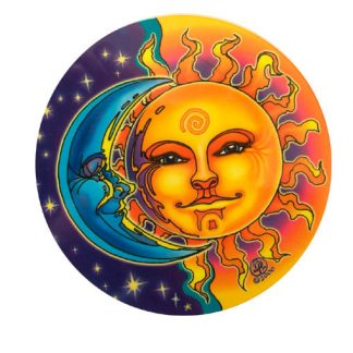 Luna-Sole-car window sticker hippy