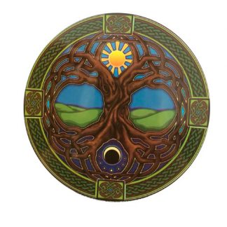 Tree-of-Life-car vetrofania hippie